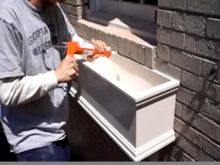 How to install window boxes on brick video