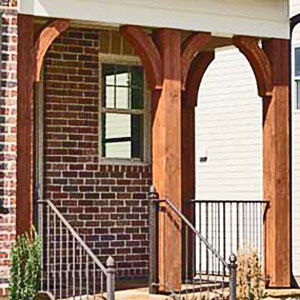 Cedar Post Braces - Decorative Outdoor Wooden Curved Braces
