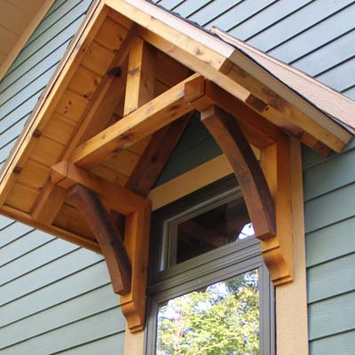 Exterior cedar wood products brackets gables braces for Craftsman gable brackets