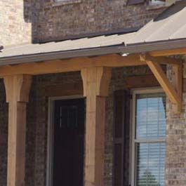 wood porch post corbels and brackets