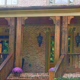 rustic looking porch corbels made from cedar