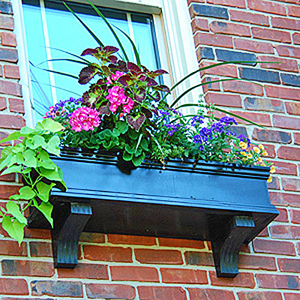 Black Pvc No Rot Self Watering Window Boxes Charleston