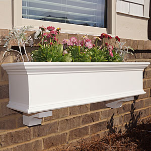 pvc window box with crown and base moulding