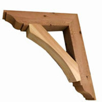 Cedar Brackets, Corbels, and Gables