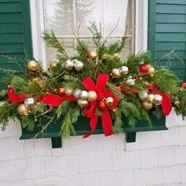 christmas decorations for window boxes winter window box ideas 94