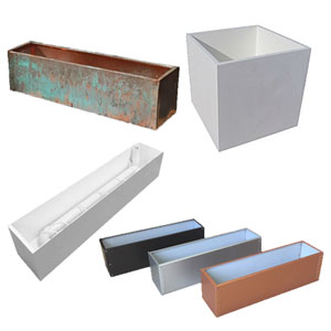 All Window Box Liners - Copper, PVC, Aluminum