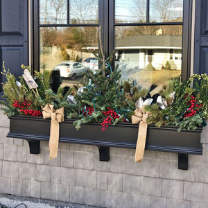 Long Black Window Box Made from PVC