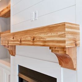 Natural Stained Cedar Mantle and Corbels