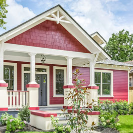 Craftsman Style Home with White Gable