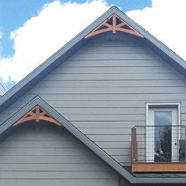 Decorative Wooden Gable Pieces 10/12 Roof