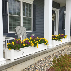 Cape Cod Planter Boxes Pvc