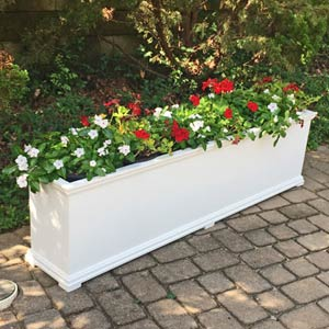 Tall and Skinny PVC Rectangular Planter