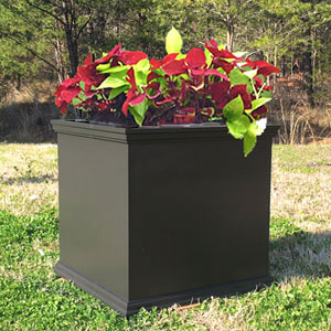 Black charleston planters black outdoor planters workwithnaturefo