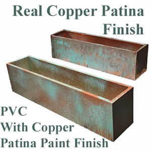 Real Copper Liners with Patina Finish vs PVC Liners with Copper Patina Coating