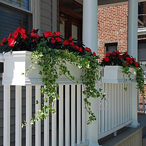 Deck Railing Planters - Flower Boxes for Rails