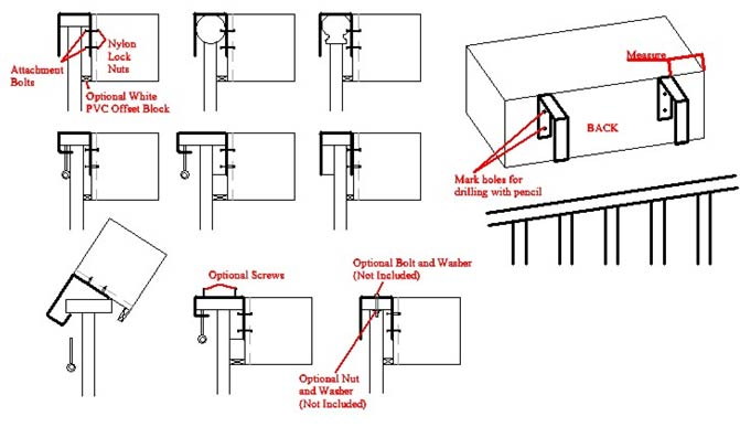 Rail Diagram for Installing Hanging Rail Planters