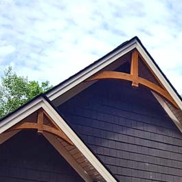 Cedar bracket corbel and gable ideas adding cedar for for Craftsman gable brackets