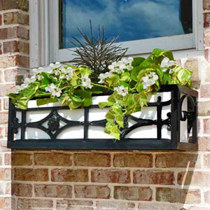 Historical Wrought Iron Flower Box Design