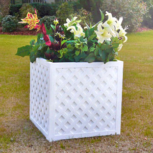 Lattice Cube PVC Planter