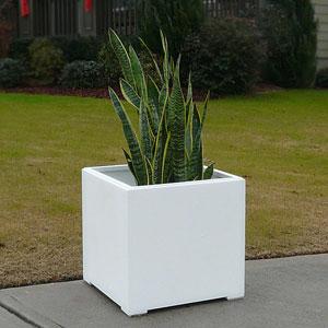 Paintable White Square Pvc Planter Bo
