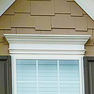 PVC Pediment over aluminum window