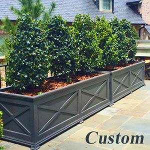 "Custom 72""Long x 30""High x 30""Wide Pennsylvania Deluxe Planter Painted Grey"