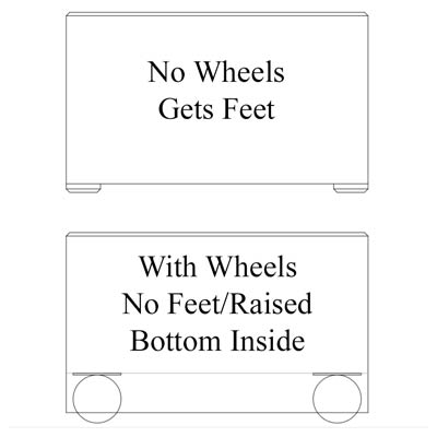 Planters on Wheels with Casters Graphic