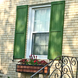 Metal Window Box Cage with Custom Composite PVC Shutters