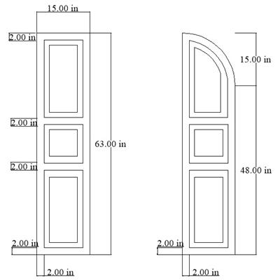 Drawing of Custom Exterior Shutters