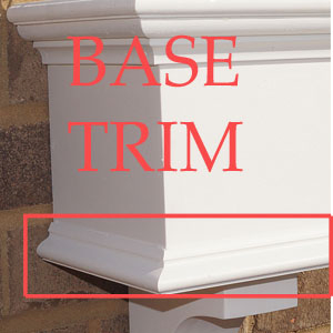base trim option for traditional window box (bottom trim)