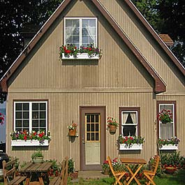 vacation home with window boxes