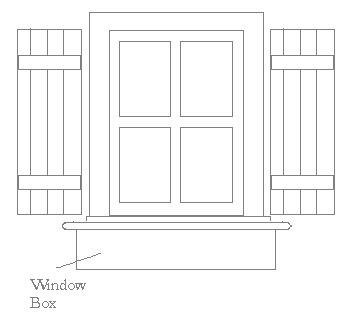 Measuring Window Boxes for Windows with Shutters